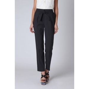 Leifsdottir Tie-Front Pants Charcoal Gray Size 4